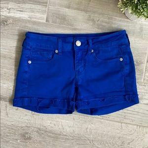 AE Stretch Blue Shorts, Size 2